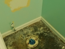 "Powder room ""closet flange"""