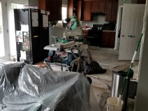 Kitchen, as seen from the living room
