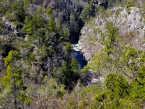 Linville Gorge River as seen from Babel Tower