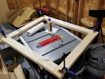 Clamped and glued frame