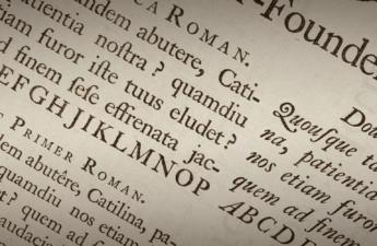 William Caslon's sample sheet